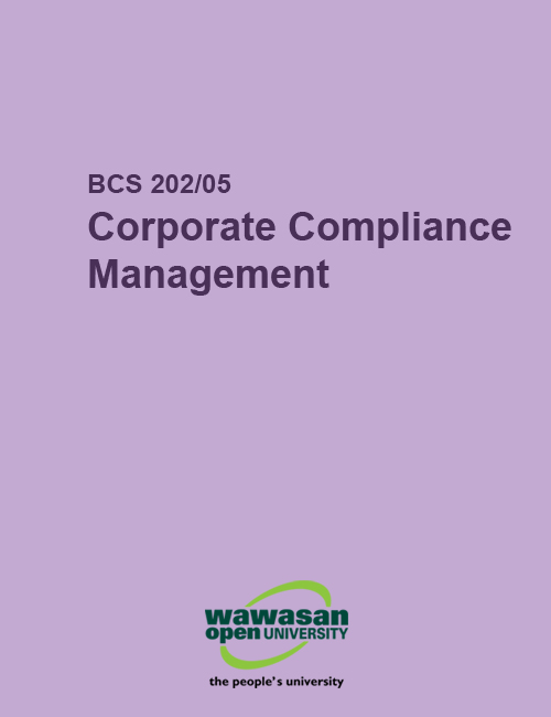 Cover image for BCS 202/05 Corporate Compliance Management